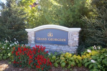 Entrance Sign: Welcome to the Grand Georgian Hotel
