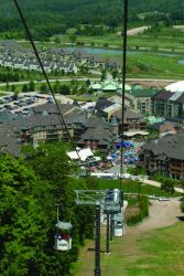 A view of the Village at Blue from the gondola.